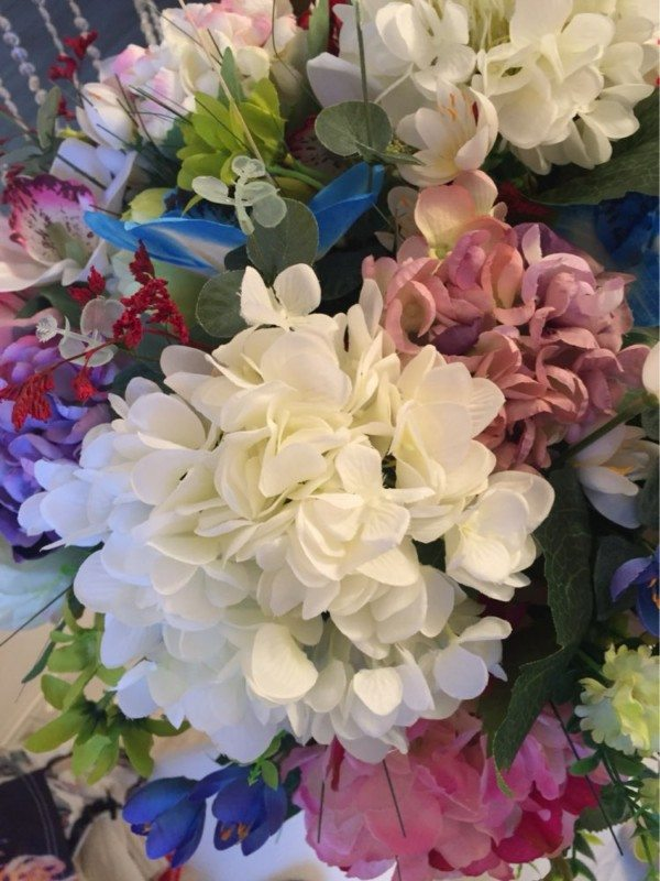 aliexpress Plastova dekorace umele kytky 11