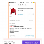Aliexpress 11.11.2018 shopping festival pre order 2