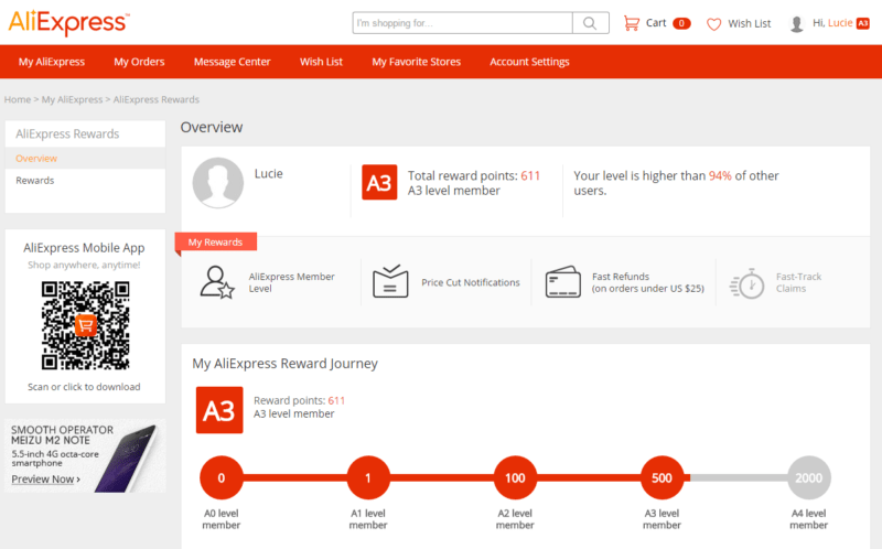 Aliexpress-odmeny-rewards-Ali-uprava