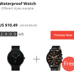 Black Friday Aliexpress Gearbest shopping 2018 watch