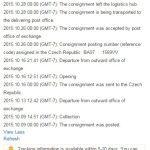 Sledování zasilek na Aliexpress Logistics infromation 3