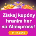 Aliexpress day 11.11.2019 Money hop hry cina CZ web tit sm