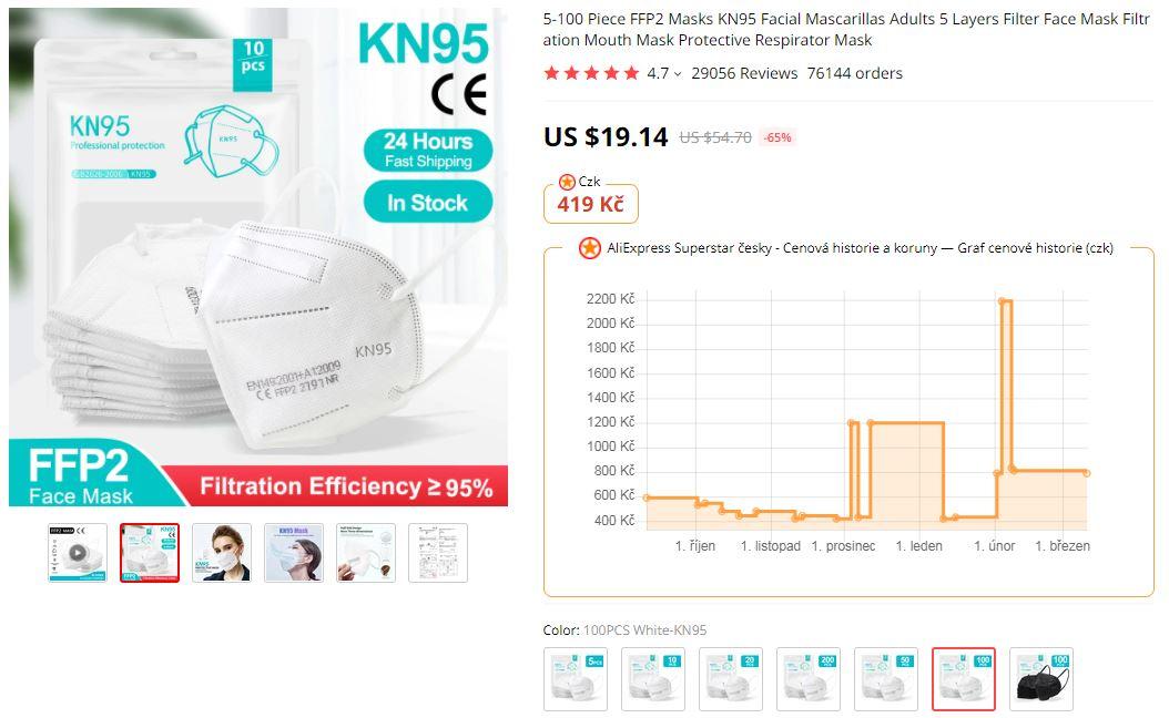 Respiratory FFP2 Aliexpress super cena rousky akt